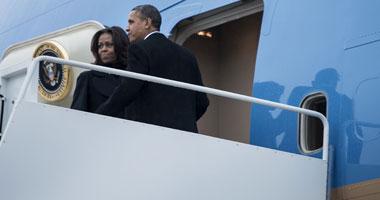 الرئيس الأمريكى باراك أوباما وقرينته
