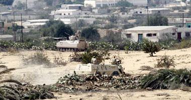 جانب من انتشار الجيش فى سيناء ـ أرشيفية