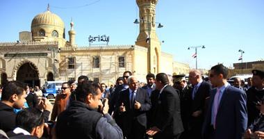 محافظ القاهرة يفتتح ميدان السيدة نفيسة بعد انتهاء تطويره