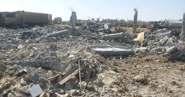 بالصور.. آثار تدمير المنشآت الأمنية فى سيناء نتيجة التفجيرات الإرهابية