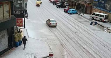 اسكندرية بالثلج صور ولا أروع للاسكندرية يكسوها الثلج الابيض لأول مرة