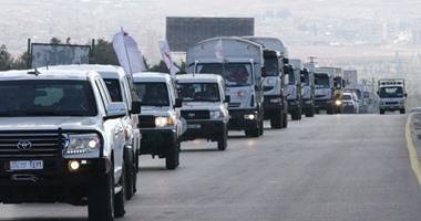 قافلة عسكرية تضم 200 شاحنة للتحالف الدولى تدخل شمال شرق سوريا