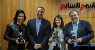 """دنيا سمير غانم تشكر """"اليوم السابع"""" على """"تويتر"""" بعد تكريمها بالجريدة"""