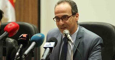 هيثم الحاج على يتفقد أرض المعارض الجديدة استعدادا لـ معرض القاهرة للكتاب الـ50