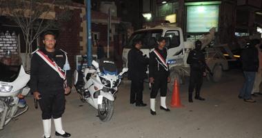 القيادات الأمنية أثناء حملة مرورية
