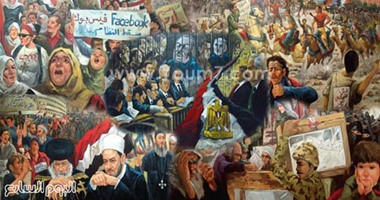 بالصور.. التشكيليون يوثقون ثورة 25 يناير داخل أعمالهم الفنية
