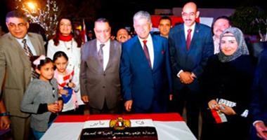 بالصور.. الجالية المصرية فى مسقط تحتفل بثورة 25 يناير