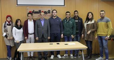 """بالصور.. وفد طلابى من الأكاديمية العربية للعلوم والنقل البحرى يزور """"اليوم السابع"""""""