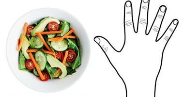 بالصور.. كف إيدك يحدد كمية الأطعمة المناسبة لك يوميا ...