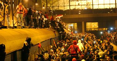 جانب من أحداث مباراة الأهلى والمصرى