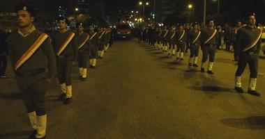 بالصور.. جنازة عسكرية لشهيد الشرطة بالغربية