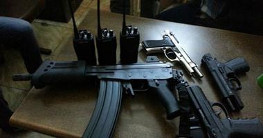 مضبوطات أسلحة نارية