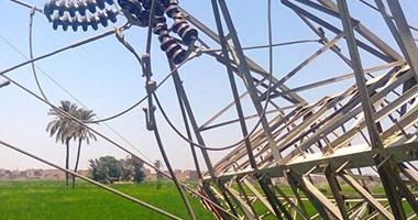 تفجير برج كهرباء بطريق القاهرة - أسيوط الغربى بالقرب من الفيوم  اليوم السابع