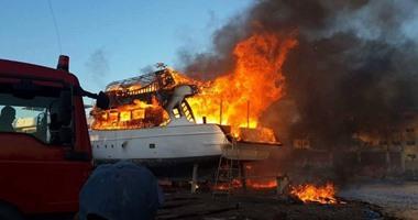 القوات البحرية تنقذ 24 سائحا بعد نشوب النيران فى لنش سياحى بالغردقة