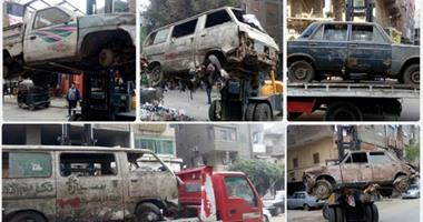 المرور يضبط 13 سيارة ودراجة بخارية متروكة فى حملات بالقاهرة