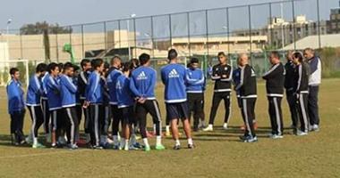 المصرى يختتم تدريباته استعدادا لجرين بافالوز بالتدريب على ركلات الترجيح