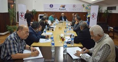 اللجنة المنظمة تتفق مع مندوبى الوزارات على خطة تأمين بطولة إفريقيا لليد