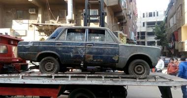 رفع 15 سيارة ودراجة بخارية متروكة فى حملات بشوارع الجيزة