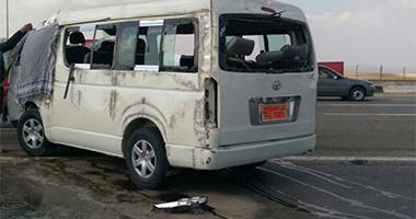 مصرع عجوز وإصابة شقيقين فى حادث سير على طريق بنى سويف الفيوم