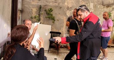 أبطال مسلسل مدرسة الحب يتحدون القنابل فى سوريا اليوم السابع