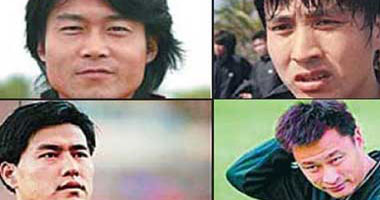اعتقال أربعة لاعبين صينيين بتهمة