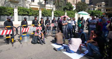 المتظاهرون أمام السفارة السعودية – أرشيفية