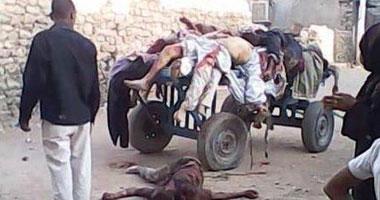 """نشطاء يتداولون صورة توضح بشاعة مجزرة """"الهلايل والدابودية"""" بأسوان"""