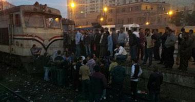 خروج قطار الدقهلية- كفر الشيخ عن القضبان دون خسائر مادية أو بشرية