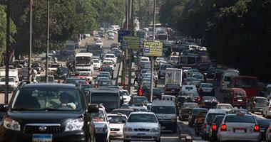 توقف حركة المرور بالطرق المؤدية لسنترال العتبة المحترق بسبب زيادة الأحمال