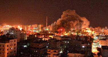 اسرائيل تشن ضربات جوية غزة بعد سقوط صاروخ قرب ميناء