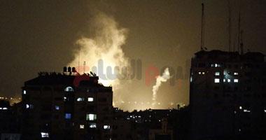 بالفيديو.. لحظة استهداف الطيران الإسرائيلى لقيادات حماس فى غزة