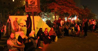 """منصة """"ألف مسكن"""" تفض اعتصامها وتنطلق بمسيرة إلى شارع أحمد عصمت"""
