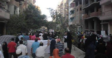 """انطلاق مسيرة """"الإخوان"""" من أمام مسجد الرحمة بالهرم 18201327192230"""