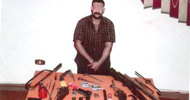 الأسلحة والأدوات التى تم ضبطها