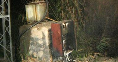 """مجهولون يحرقون """"كابل"""" بمحول كهرباء مطوبس فى كفر الشيخ"""