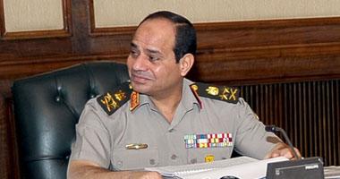 عبد الفتاح السيسى القائد العام وزير الدفاع والإنتاج الحربى