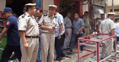 بالفيديو والصور.. انفجار هائل بمحل جزارة وسط دمنهور نتيجة تسرب غاز
