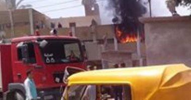 السيطرة على حريق 3 محلات فى منطقة الجمالية دون إصابات
