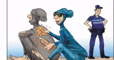 """كاريكاتير إسرائيلى يسخر من ارتداء المسلمات """"البوركينى"""" فى فرنسا"""