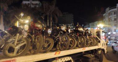 ضبط 877 مخالفة دراجات بخارية بدون لوحات بالمحافظات