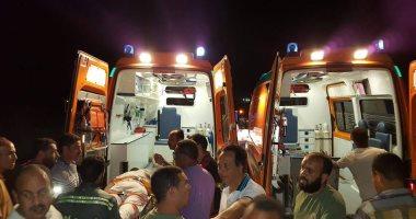إصابة 3 أشخاص فى حادث تصادم بكفر الشيخ.. ومسعف يسلم 41 ألف جنيه لمصابة