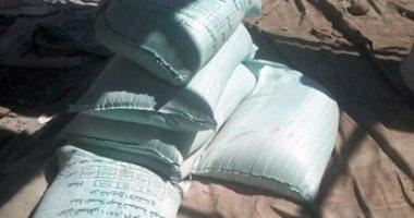 ضبط 9 أطنان دقيق مدعم وسكر ومصنع لتعبئة المواد الغذائية فى القليوبية