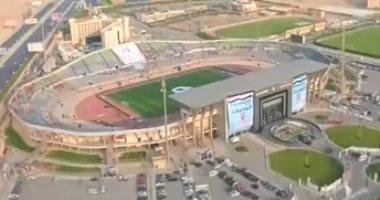 وفد الاتحاد العربى يعاين ستاد برج العرب والمكس اليوم