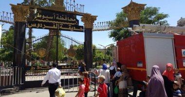 بالصور.. إقبال المواطنين على المتنزهات فى آخر أيام العيد بأسيوط