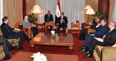 السيسى لنائبين بالكونجرس: نسعى لتعزيز علاقات مصر وأمريكا لمواجهة التحديات