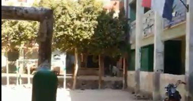 بالفيديو..  يد الإهمال تضرب مدرسة بالهرم قبل بدء الدراسة