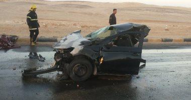 """قارئ يشارك بصور حادث تصادم مرورى على طريق """"الغردقة - الجونة"""""""