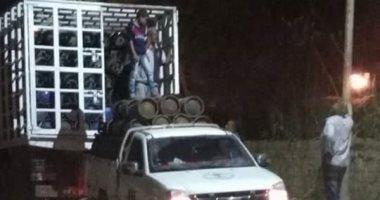 ضبط سيارة محملة بإسطوانات البوتاجاز قبل بيعها بالسوق السوداء فى الدقهلية