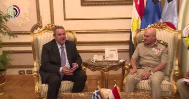 موقع وزارة الدفاع ينشر فيديو للقاء الفريق أول صدقى صبحى مع نظيره اليونانى