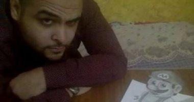 """قارئ يشارك """"اليوم السابع"""" بلوحاته المرسومة بطريقة ثلاثية الأبعاد"""